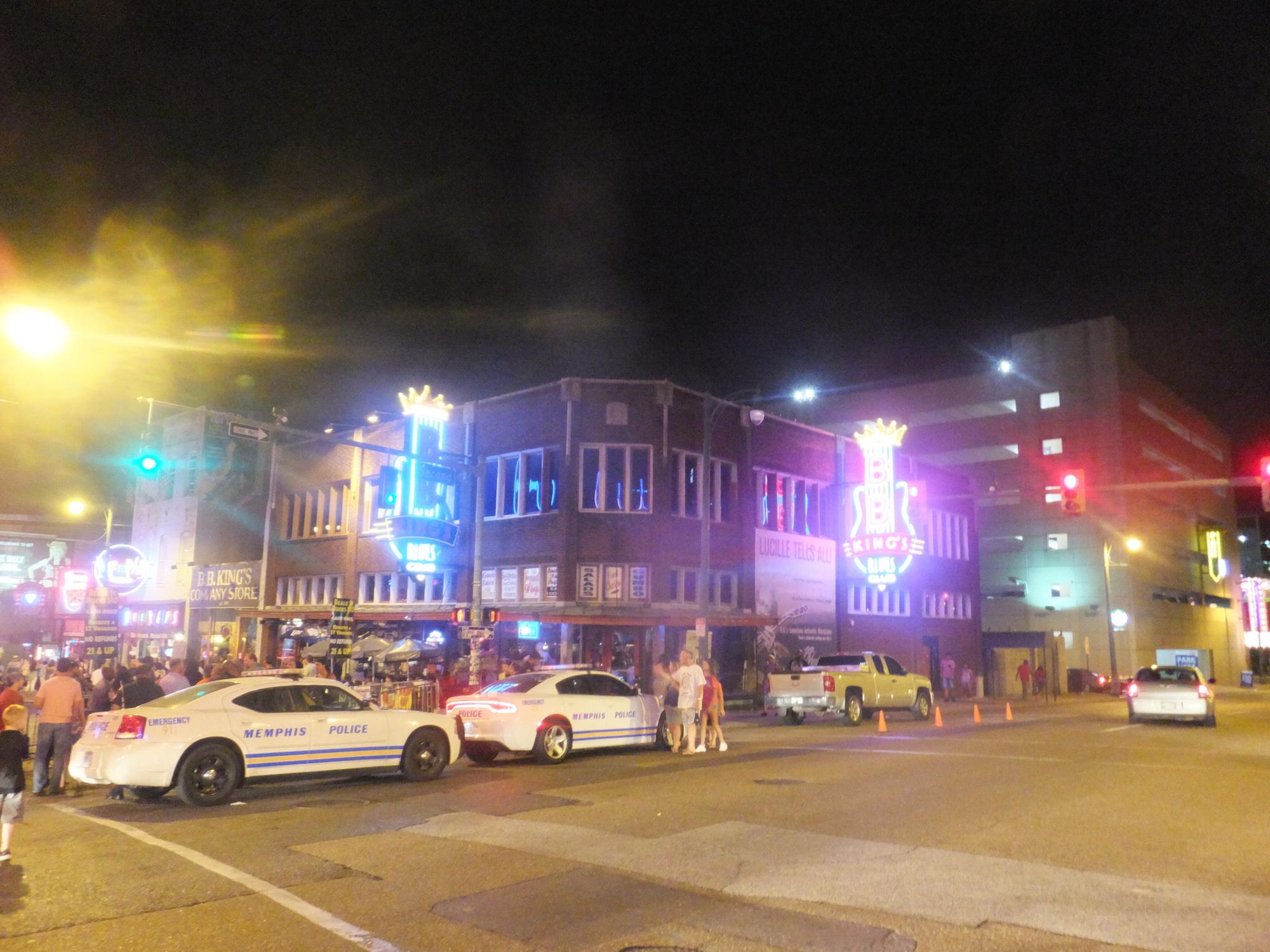 L'accès à Beale St était réglementé ce soir