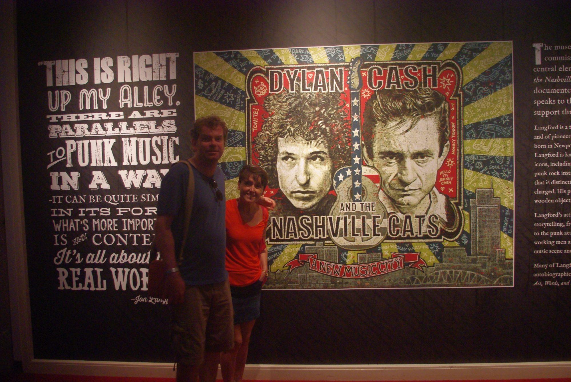 Il y avait aussi une expo temporaire sur la collaboration entre Bob Dylan et Johnny Cash. Très intéressant et bien présenté