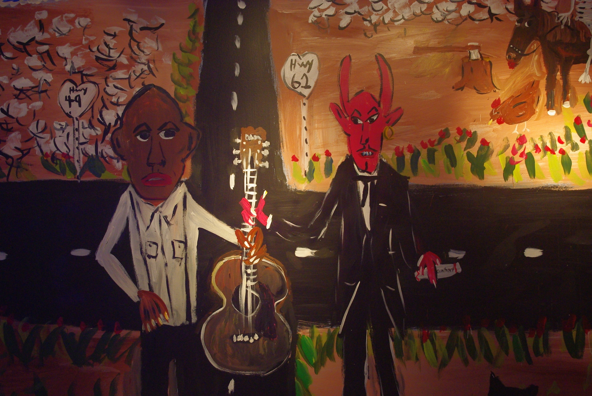 Référence à la rencontre de Robert Johnson et le diable