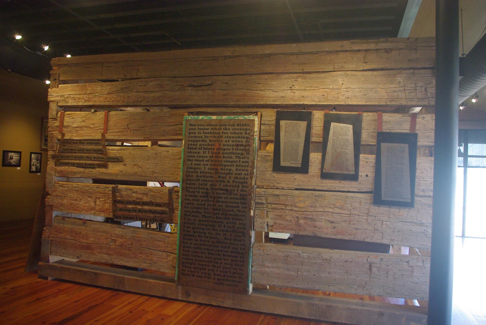 La pièce maitresse du musée, la cabane dans lequel a vécu Muddy Waters
