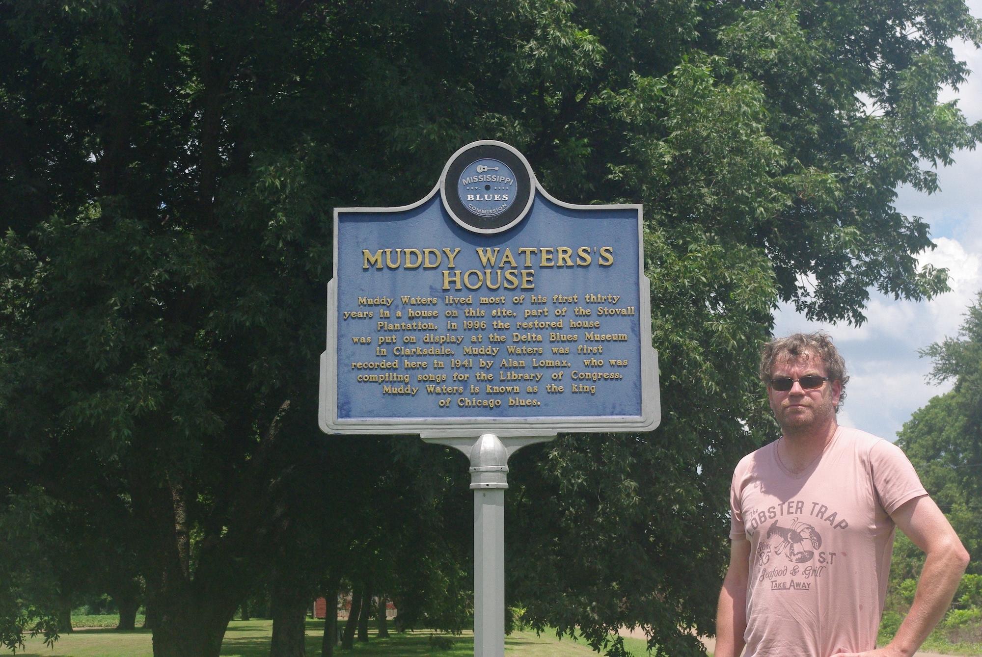 L'emplacement de la maison de Muddy Waters dans la plantation Stovall