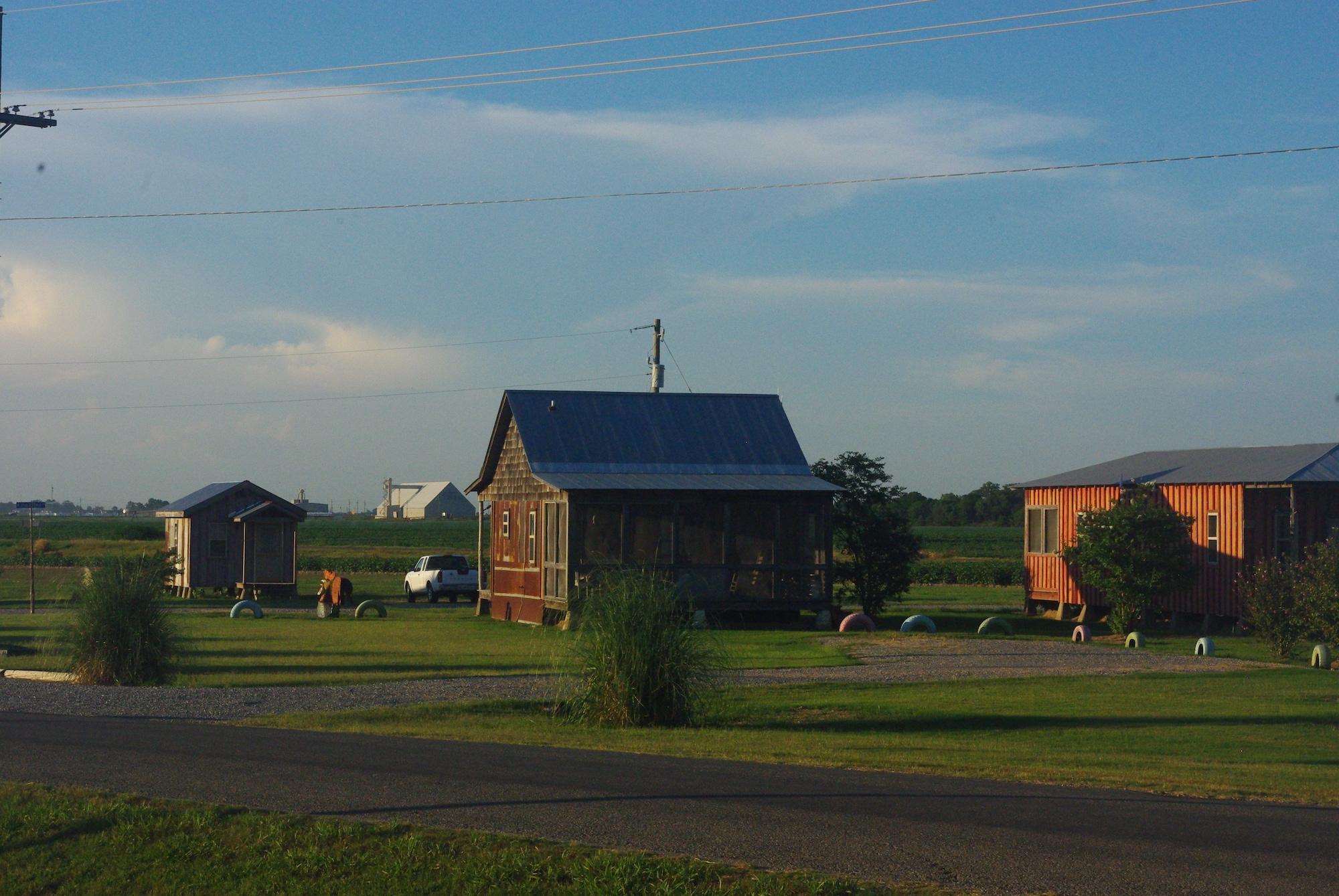 Les shacks sur la plantation