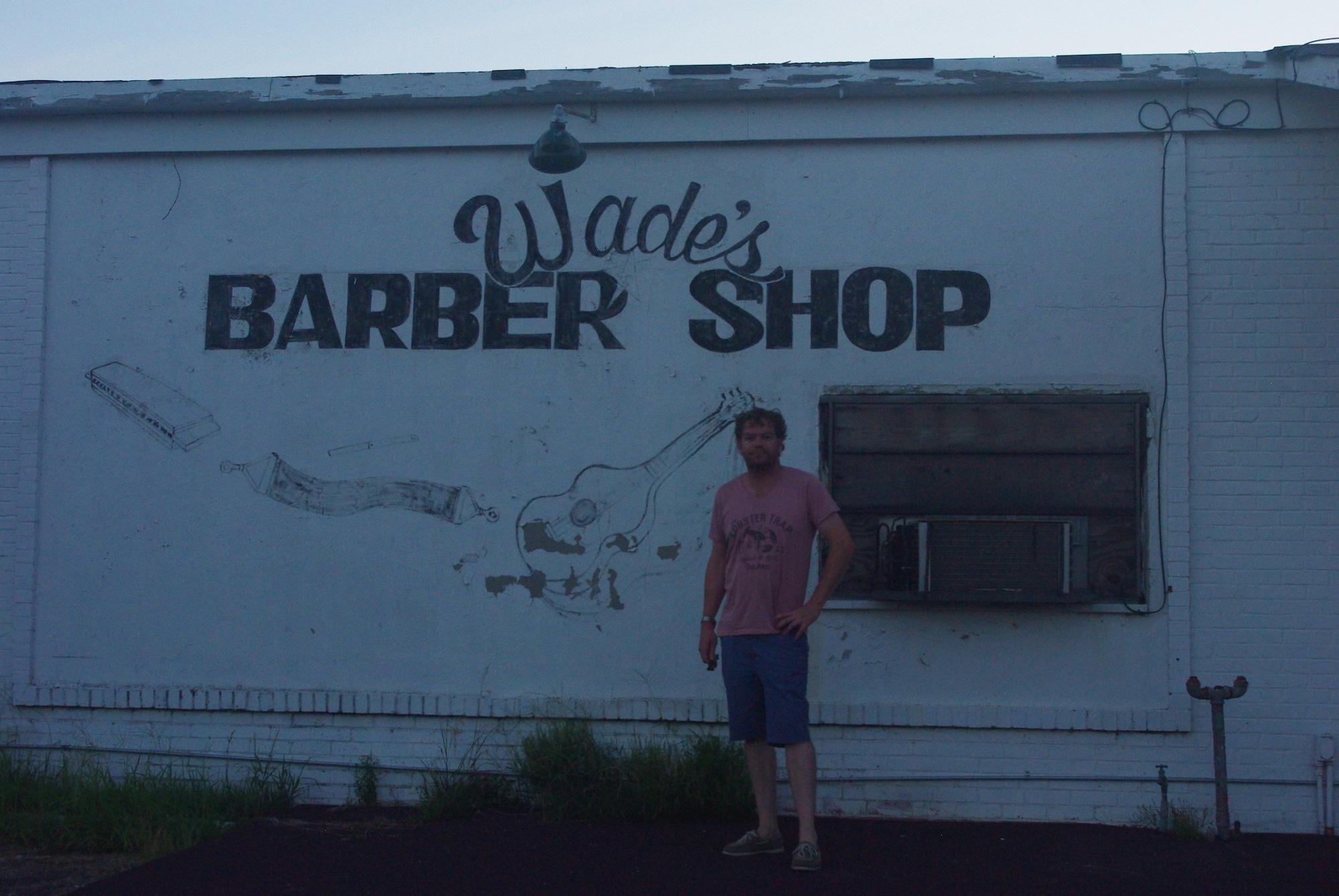 L'ancien salon de barbier de Wade Walton qui était aussi bluesman à ses heures