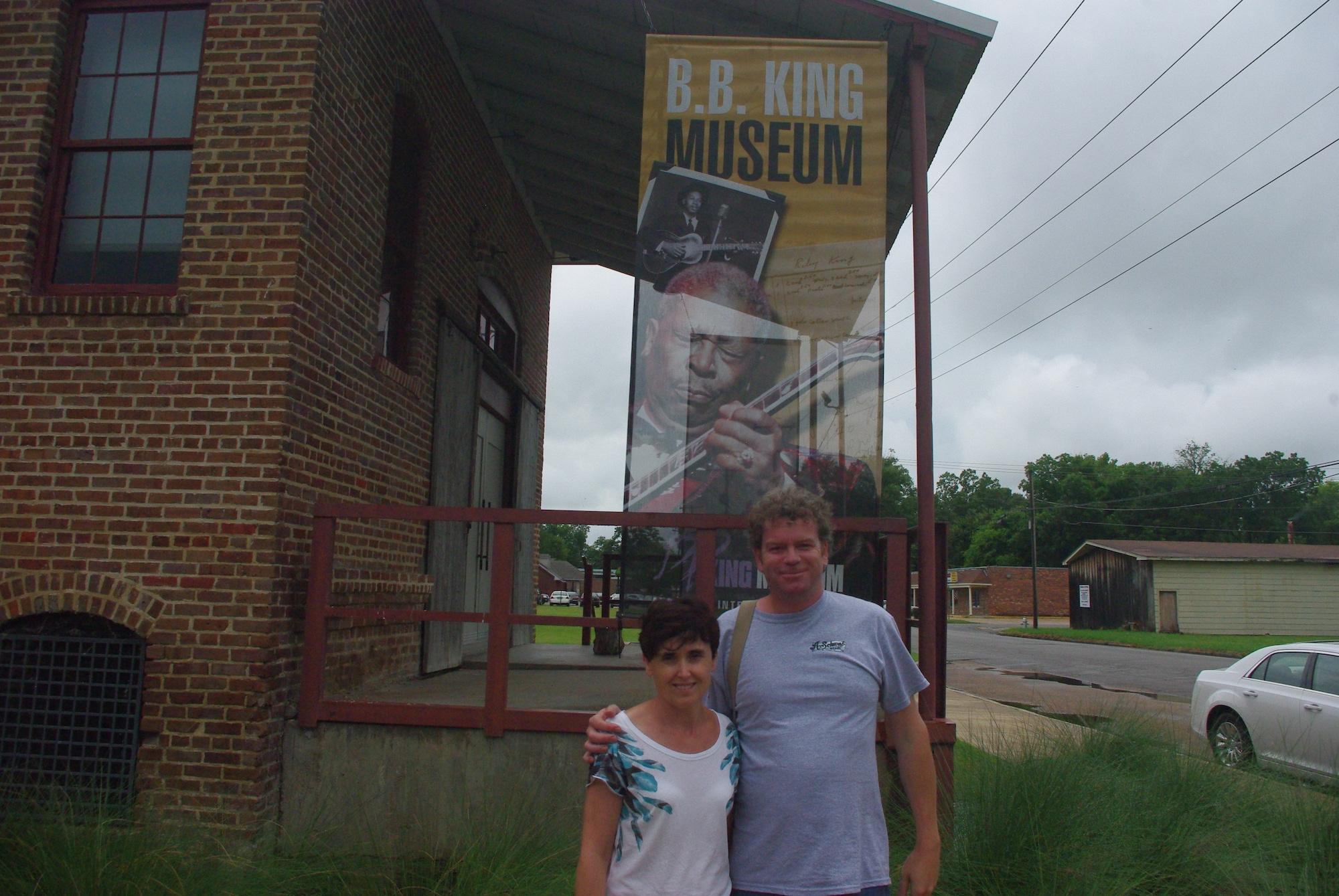 Devant le musée de BB King à Indianola