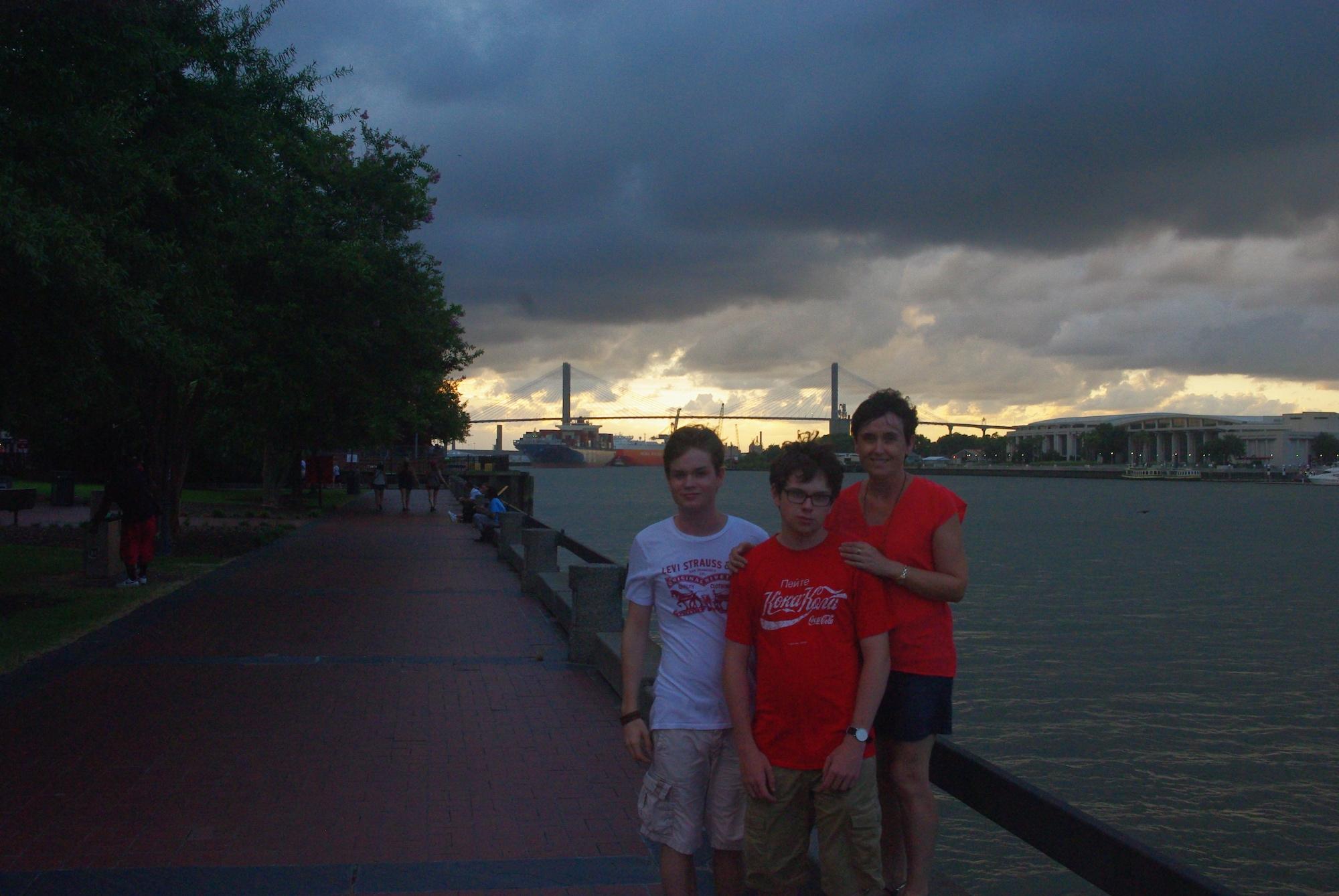 Arrivée le soir à Savannah