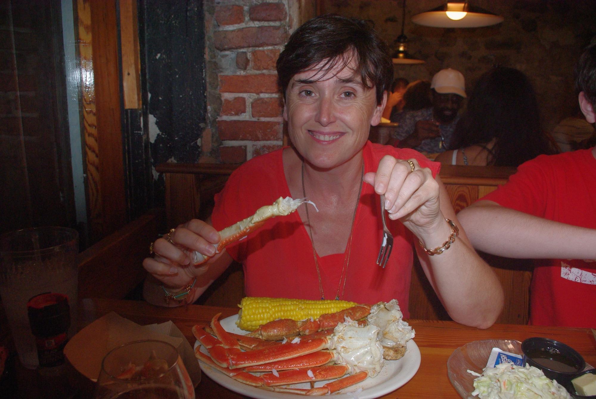 Et c'est pinces de crabes pour tous. Miam !!