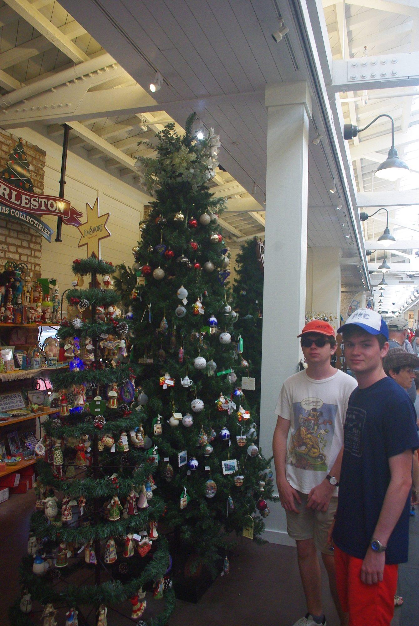 A Charleston comme dans beaucoup de villes que nous avons visité, on peut acheter des décorations de Noël toute l'année